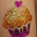 tiny-heart-and-cupcake-glitter-tattoo